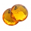 Acrylic 10mm Round Facet Yellow